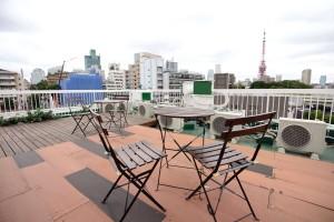 屋上テラスから東京タワー